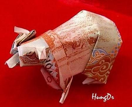 Nghệ thuật gấp tiền Việt đỉnh cao (15)