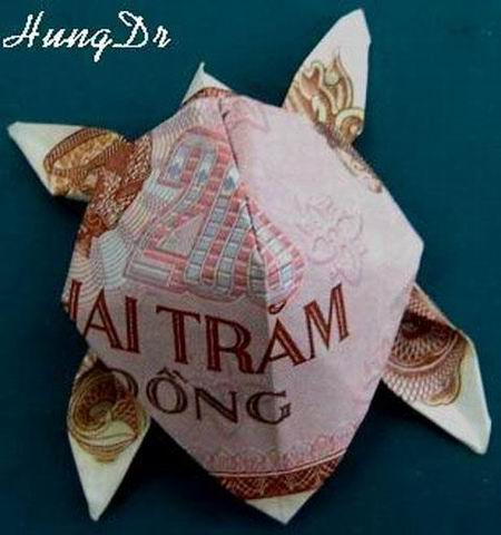 Nghệ thuật gấp tiền Việt đỉnh cao (13)