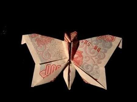 Nghệ thuật gấp tiền Việt đỉnh cao (6)