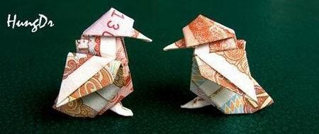 Nghệ thuật gấp tiền Việt đỉnh cao (1)