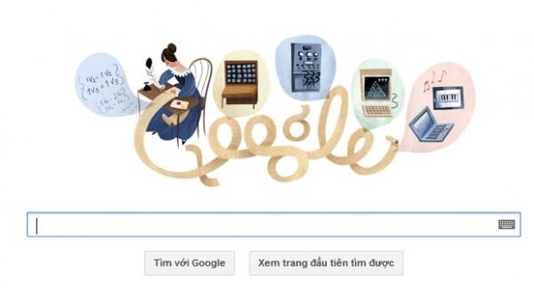 Logo Google hôm nay: kỷ niệm lần sinh nhật 197 của Ada Lovelace