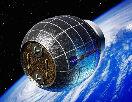 Hình minh họa quả cầu cao su mà NASA sẽ đưa lên ISS. Ảnh: NASA.