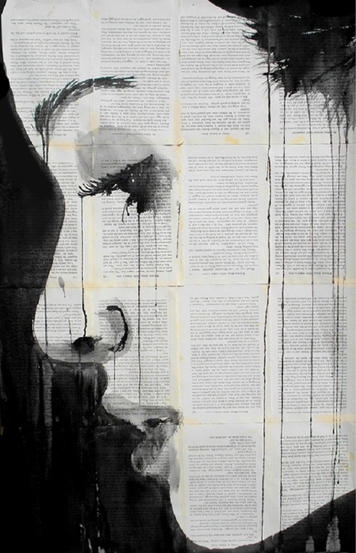 Những bức họa ấn tượng vẽ trên trang sách cũ (2)