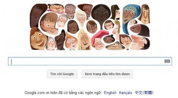 Logo Google hôm nay: chúc mừng ngày 8-3