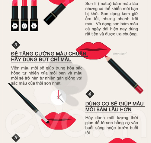 10 mẹo hay khi dùng son môi (3)