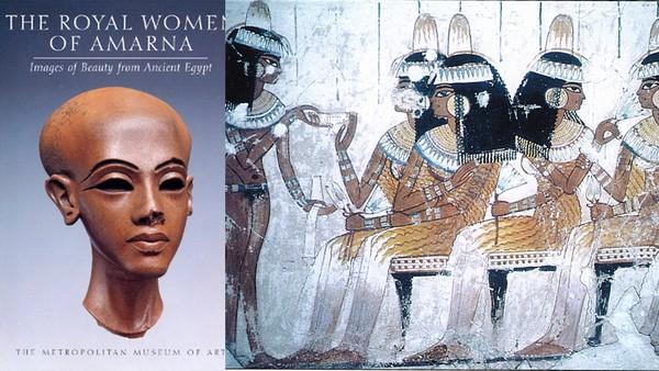 Phụ nữ quý tộc Ai Cập cổ đại với thời trang đầu trọc và tóc giả