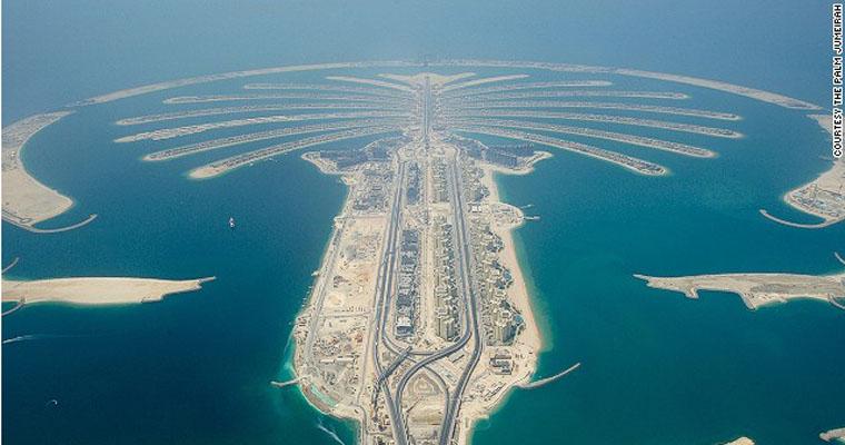 hòn đảo nhân tạo Palm ở Dubai