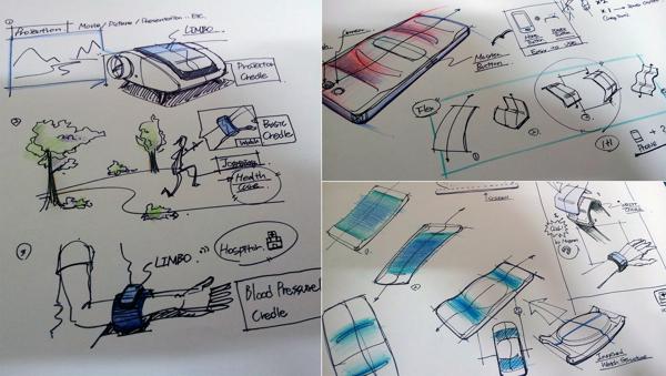Limbo - Điện thoại uốn cong thành đồng hồ thông minh