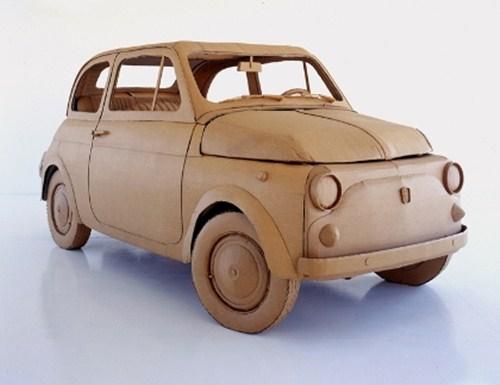 Xe Fiat 500 Từ Giấy Cacton,...