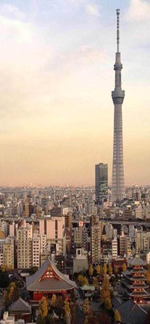Sky Tree là tháp phát thanh truyền hình, nhà hàng và quan sát được xây dựng ở Sumida, Tokyo, Nhật Bản