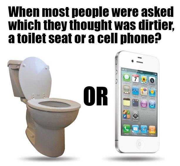 Điện thoại di động còn bẩn hơn cả bồn cầu