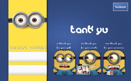Một số hình ảnh về thiệp cưới đậm chất facebook của đôi bạn trẻ Đức Hải - Ngọc Mai: