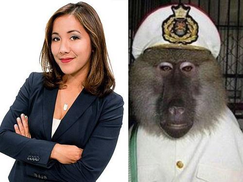 Sabrina Rodriguez và chú khỉ Mickey