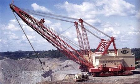Cỗ máy này được sử dụng nhiều trong các mỏ than