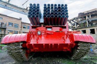 Impuls-2 cũng sử dụng phần thân xe tăng T-62, nhưng uy lực hơn phiên bản trước về khả năng dập lửa nhờ gia tăng số lượng ống phóng