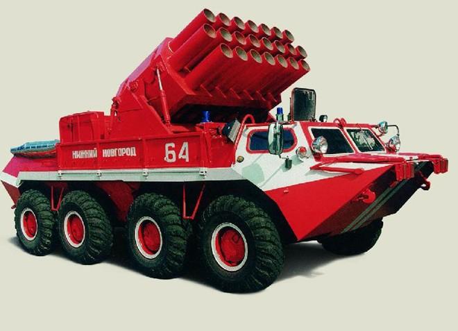 Vetluga là loại xe chữa cháy được cải tiến từ loại xe bọc thép của Nga