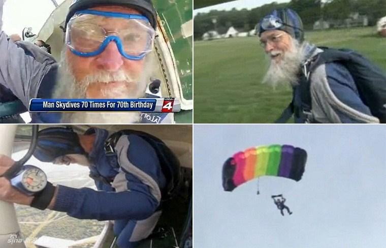Cụ ông Larry EkstromCụ ông Larry Ekstrom đã dũng cảm thực hiện 70 cú nhảy dù để kỉ niệm sinh nhật 70 tuổi đã dũng cảm thực hiện 70 cú nhảy dù để kỉ niệm sinh nhật 70 tuổi