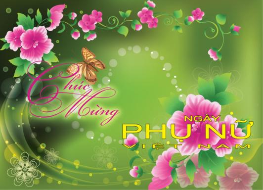 Thiệp đẹp Ngày Phụ Nữ Việt Nam 20-10
