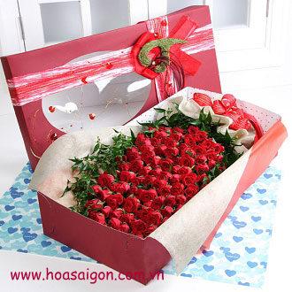 Phái nữ thích được bạn trai tặng hoa