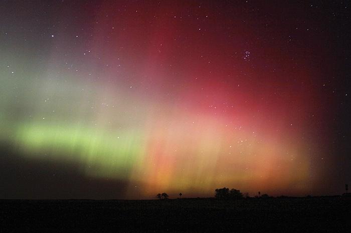 Cực quang phương Bắc ở Havre, Montana, Mỹ