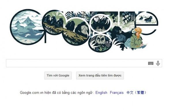 Logo Google 16-01-2014-Dian Fossey là ai