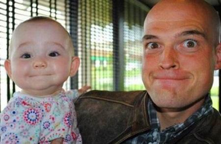 Ảnh vui: Cha nào con nấy (3)