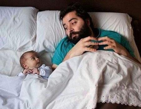 Ảnh vui: Cha nào con nấy (13)