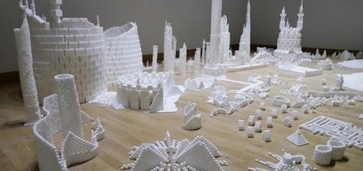 Thành phố màu trắng thú vị được làm từ 500 nghìn viên đường (15)