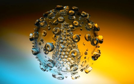 Mô hình Virus độc đáo được làm bằng thủy tinh