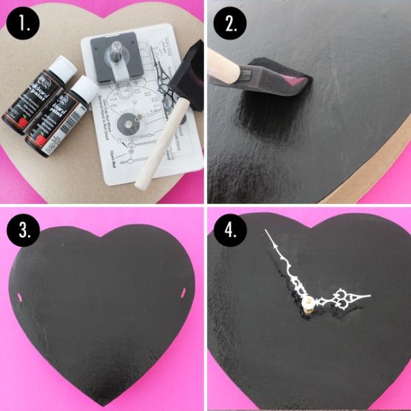 Làm đồng hồ và đèn tường cực độc đáo cho ngày Valentine