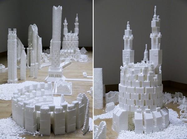 Thành phố màu trắng thú vị được làm từ 500 nghìn viên đường (14)