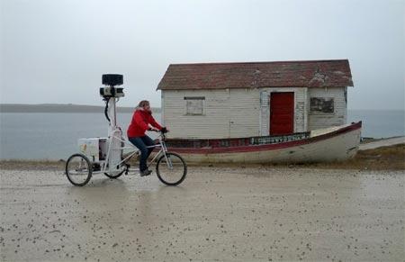 Đây là cách Google thu thập dữ liệu cho ứng dụng Google Street View hay Chế độ xem phố ở Bắc cực.