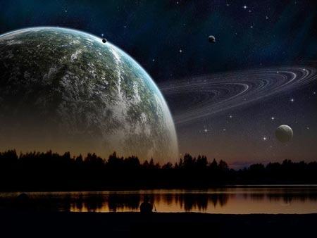 Đây là cảnh tượng chúng ta sẽ nhìn thấy khi sao Thổ cũng gần Trái đất như Mặt trăng.