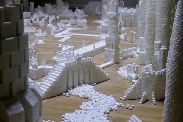 Thành phố màu trắng thú vị được làm từ 500 nghìn viên đường (7)