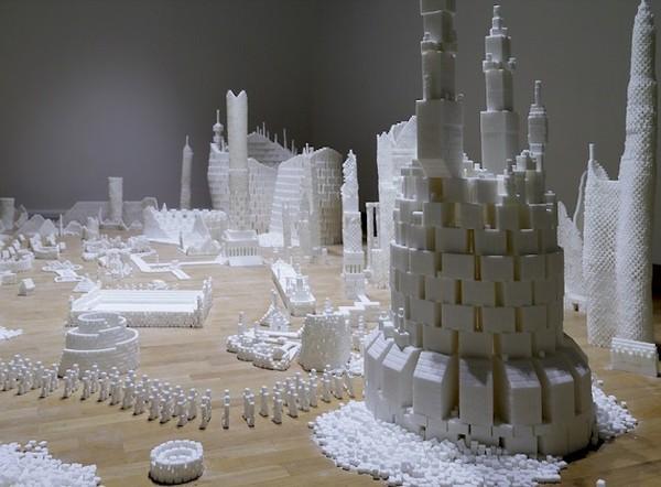 Thành phố màu trắng thú vị được làm từ 500 nghìn viên đường (6)