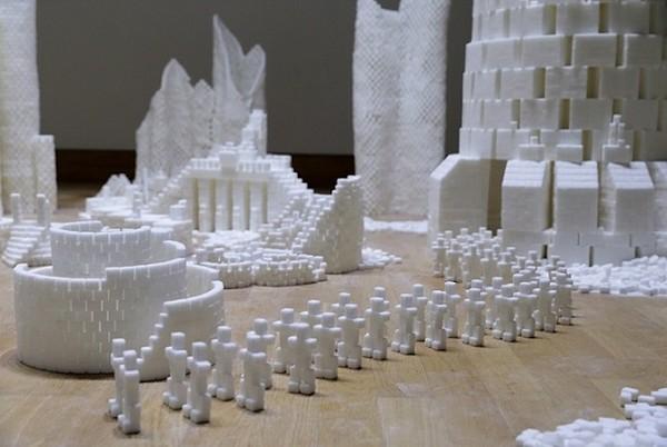 Thành phố màu trắng thú vị được làm từ 500 nghìn viên đường (5)
