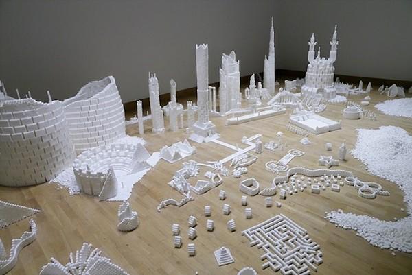 Thành phố màu trắng thú vị được làm từ 500 nghìn viên đường (4)