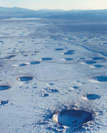 Đây là hậu quả của hàng thập kỷ thử nghiệm hạt nhân tại một sa mạc thuộc bang Nevada, Mỹ.