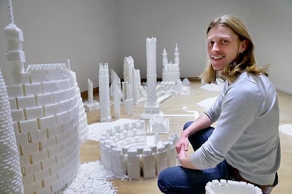 Thành phố màu trắng thú vị được làm từ 500 nghìn viên đường (2)