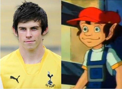 Cầu thủ Gareth Bale và nhân vật trong phim The Littles.