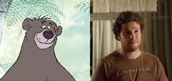 Seth Rogen rất giống với chú gấu trong bộ phim The Jungle Book.