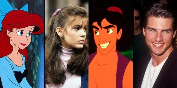 """Gương mặt của nhân vật Aladdin được lấy cảm hứng từ diễn viên điển trai Tom Cruise và gương mặt củaAriel là """"bản sao"""" của Alyssa Milano."""