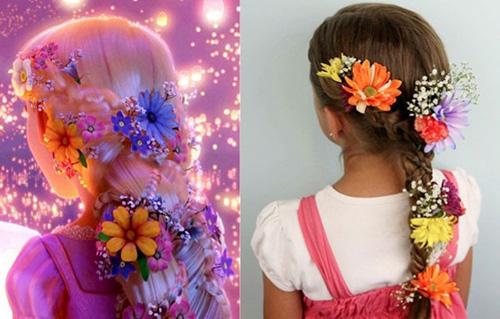 Tóc đính hoa