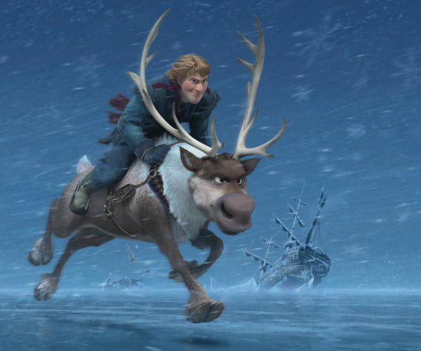 Những tương tác với mặt tuyết như cảnh nhân vật lê bước chân trên tuyết, hay đào bới tuyết…