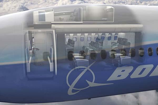 Các khu vực nghỉ ngơi cho phi hành đoàn này được tạo ra nhờ tận dụng thông minh khoảng trống ở phần đầu máy bay, giữa buồng lái và khoang hành khách.