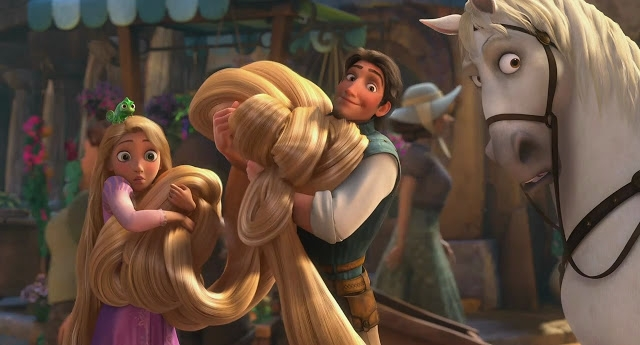 Mái tóc dài của Rapunzel trong phim được tạo thành bởi hơn 100 ngàn sợi tóc nhỏ.