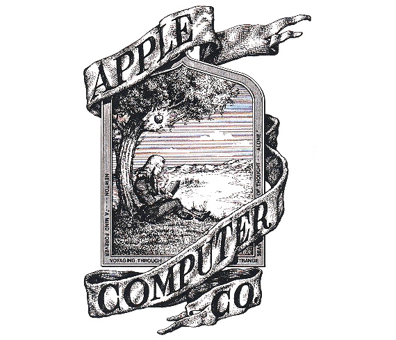 The first Apple logo was designed in 1976 by Ronald Wayne