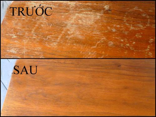 Đánh bóng đồ gỗ bị trầy xước