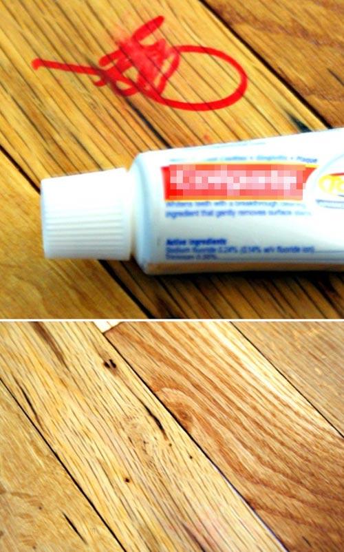 Làm sạch vết bút lông dầu trên đồ nội thất