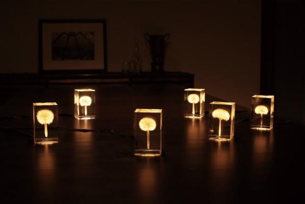 Những chiếc đèn hoa bồ công anh đáng yêu và độc đáo